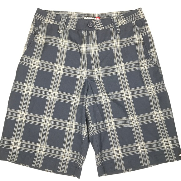 Quiksilver Other - Quiksilver Flat Front Plaid Skater Shorts A170445